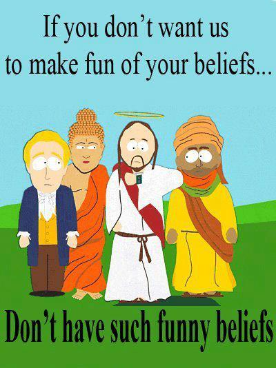 Don't have funny beliefs